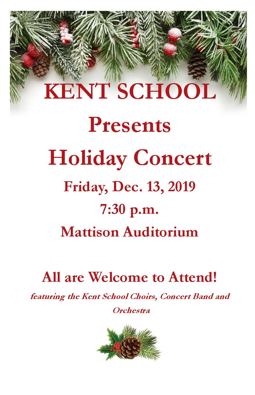 2019 Winter Holiday Concert
