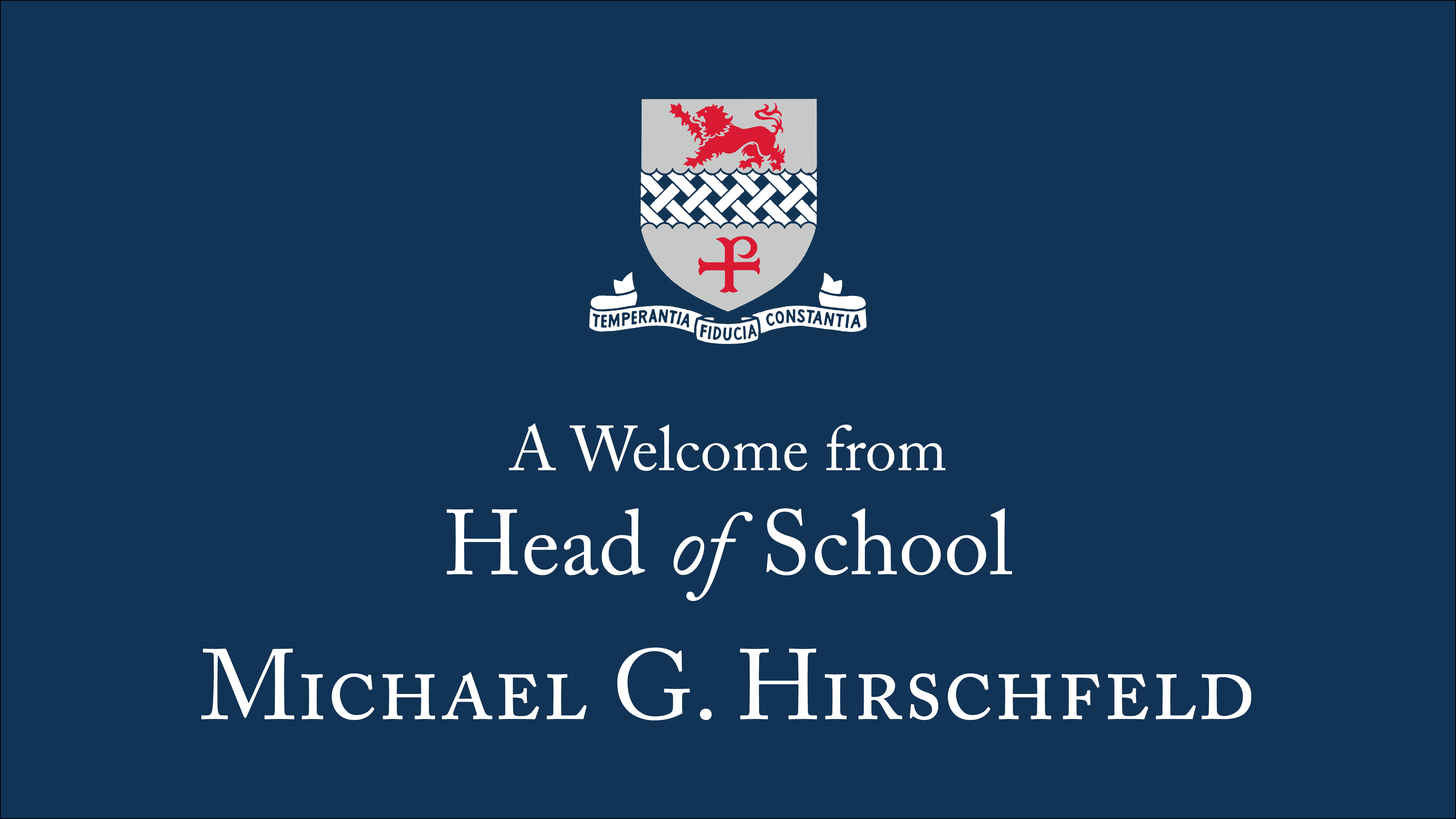 Head of school video