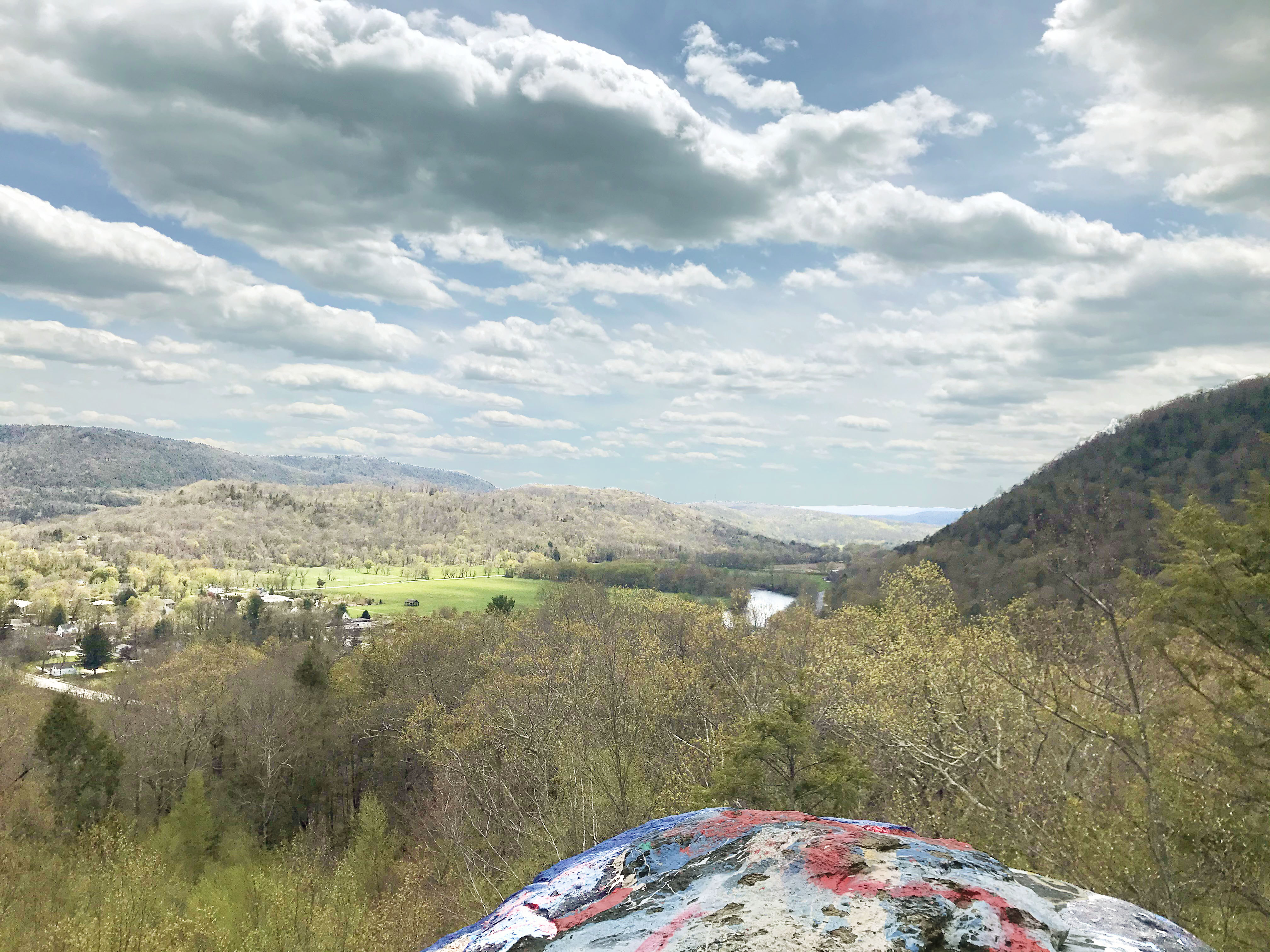 a view from numeral rock