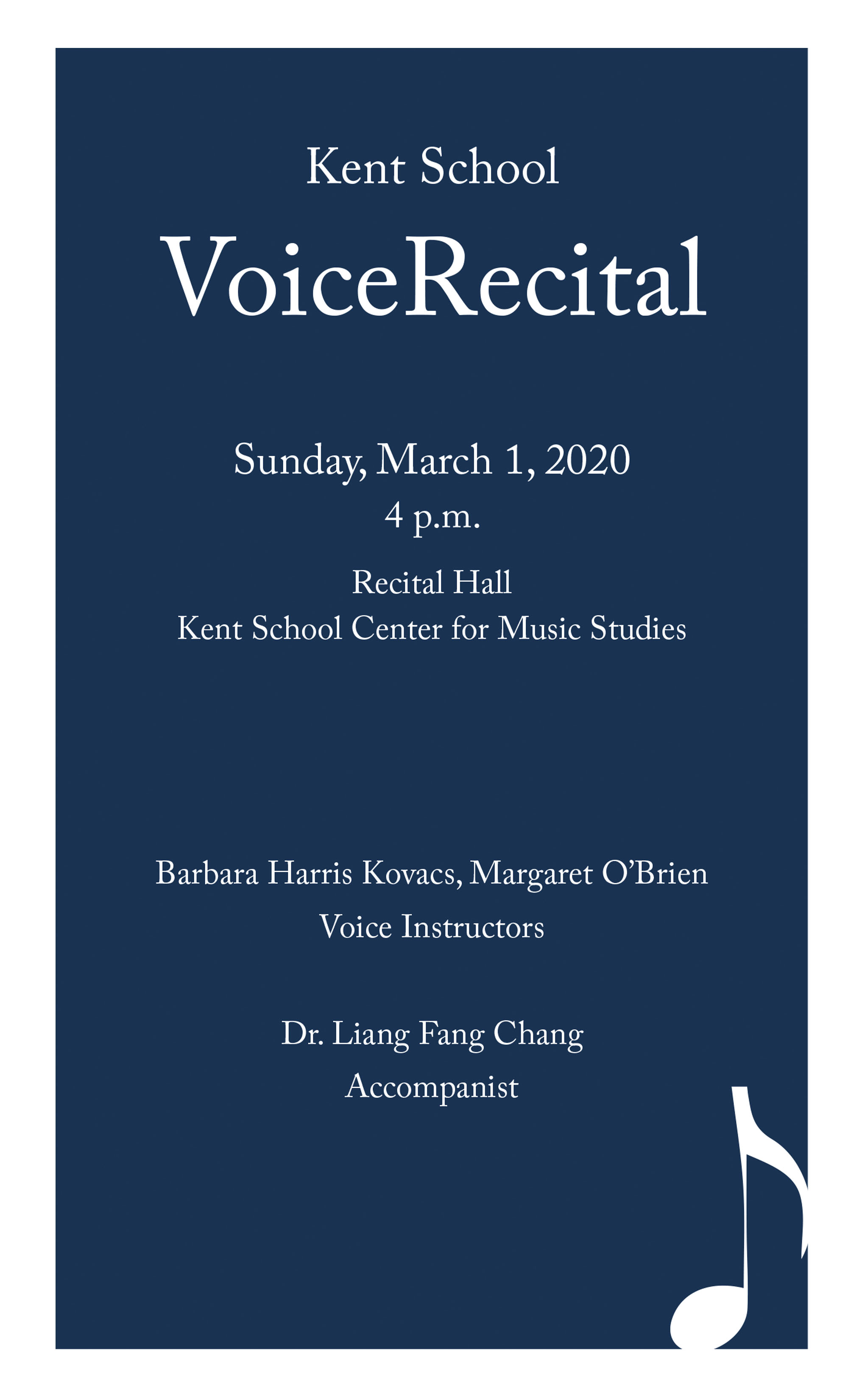 voice recital program